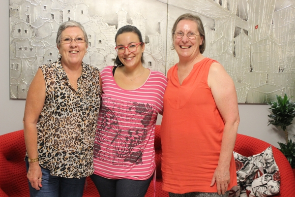 Mary and two friends from Australia