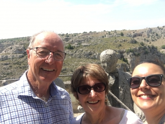 Exploring the Sassi with Australian guests