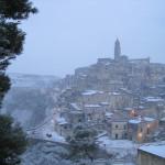 Sassi di Matera with snow