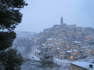 Sassi with snow