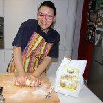 Mary making  homemade pasta during her cooking class
