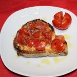 Starters: Mediterranean bruschetta