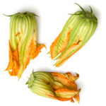 Starters: zucchini flowers stuffed with ricotta
