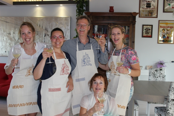 Mary and her Dutch guests