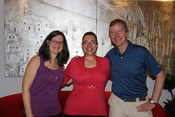 Mary and her guests from Ottawa