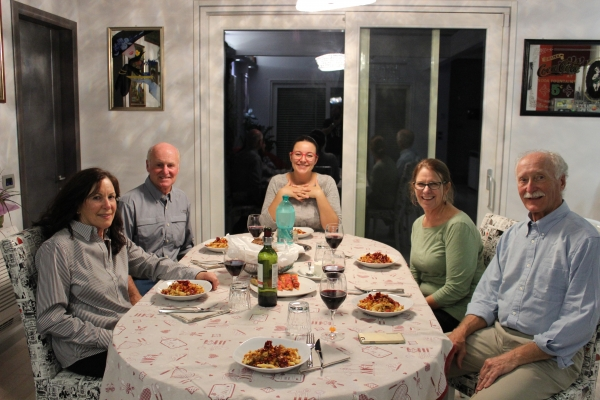 Dinner with cyclists from the US